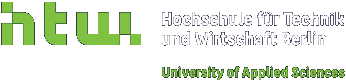 Logo of HTW Berlin - University of Applied Sciences.