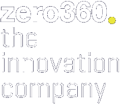 Logo of zero360. the innovation company.